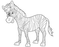 Cartoon animal - coloring page Stock Photos