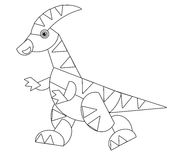 Cartoon animal - coloring page - illustration for the children Stock Photo