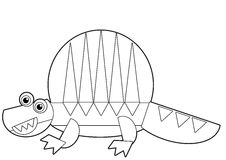 Cartoon animal - coloring page - illustration for the children Royalty Free Stock Photo