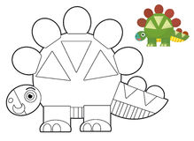 Cartoon animal - coloring page - illustration for the children Royalty Free Stock Photography