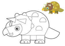 Cartoon animal - coloring page - illustration for the children Royalty Free Stock Photos