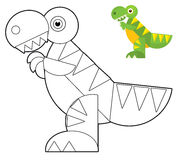 Cartoon animal - coloring page - illustration for the children Royalty Free Stock Image