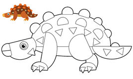 Cartoon animal - coloring page - illustration for the children Stock Images
