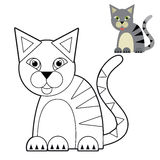 Cartoon animal - coloring page - illustration for the children Stock Image