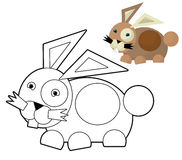 Cartoon animal - coloring page - illustration for the children Royalty Free Stock Images