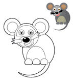 Cartoon animal - coloring page - illustration for the children Stock Photography