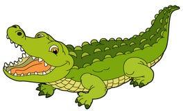 Cartoon animal - crocodile - flat coloring style Stock Photos