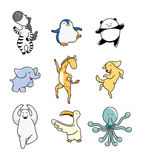 Cartoon animal dance Stock Photo