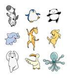 Cartoon animal dance Stock Photo