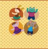 Cartoon animal dancer seamless pattern Stock Photo