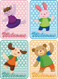 Cartoon animal dancer seamless pattern Royalty Free Stock Photography