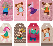 Cartoon animal dancer seamless pattern Royalty Free Stock Images
