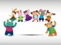 Cartoon animal dancer seamless pattern Royalty Free Stock Image
