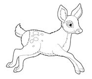 Cartoon animal - fox - coloring page Stock Photos