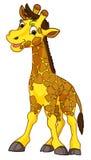 Cartoon animal - giraffe - caricature Stock Photo