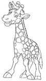Cartoon animal - giraffe - caricature Royalty Free Stock Photo