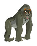 Cartoon animal - gorilla. Beautiful and colorful illustration for the children Stock Photo
