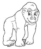 Cartoon animal - gorilla - caricature Royalty Free Stock Photos