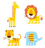 Cartoon animal. A group of cute cartoon animal stock illustration