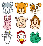 Cartoon animal head Stock Images