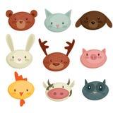 Cartoon animal head. Illustration Royalty Free Stock Images