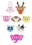 Cartoon animal head icon Royalty Free Stock Photography