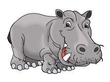 Cartoon animal - hippo - caricature Stock Photography