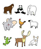 Cartoon animal icon Stock Photography