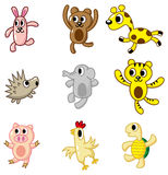 Cartoon animal icon Stock Image