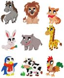 Cartoon animal icon Royalty Free Stock Image