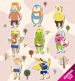 Cartoon animal icons Stock Image