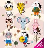 Cartoon animal icons Stock Photography