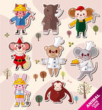 Cartoon animal icons royalty free illustration