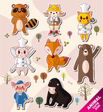 Cartoon Animal Icons Stock Photo