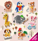 Cartoon animal icons Stock Images