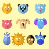 Cartoon animal icons Stock Images