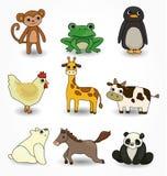 Cartoon animal icons set. Drawing Stock Photo