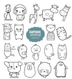 Cartoon animal icons set. Vector illustration Royalty Free Stock Photography