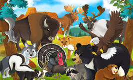 Cartoon animal - illustration for the children Royalty Free Stock Images
