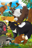 Cartoon animal - illustration for the children Stock Images