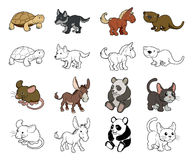 Cartoon Animal Illustrations Stock Images