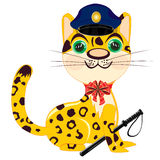 Cartoon animal leopard police Royalty Free Stock Images