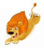 Cartoon animal - lion - caricature Stock Image
