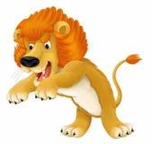 Cartoon animal - lion - caricature Royalty Free Stock Image