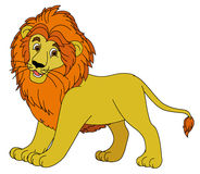 Cartoon animal - lion - flat coloring style Stock Photos