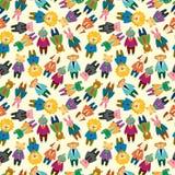 Cartoon animal office worker seamless pattern Stock Photo