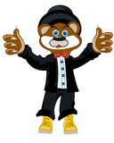 Otter in suit. Cartoon animal otter in fashionable suit.Vector illustration Stock Photo