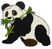Cartoon animal - panda - flat coloring style Royalty Free Stock Image