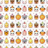 Cartoon animal party seamless pattern Royalty Free Stock Photos