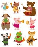 Cartoon animal playing music. Vector,illustration Stock Photography